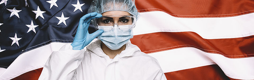 Doctor or Nurse Wearing Medical Personal Protective Equipment (P
